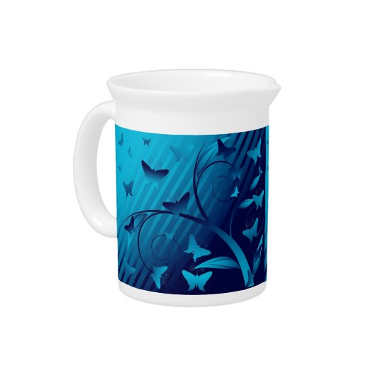 Shades of Butterflies Drink Pitcher