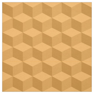 Shades of Cantaloupe 3D Look Cubes Pattern 20P Fabric