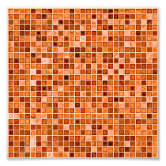 Shades Of Copper Watery Mosaic Tile Pattern Photo Art
