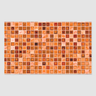 Shades Of Copper 'Watery' Mosaic Tile Pattern Rectangular Sticker