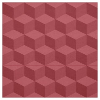 Shades of Cranberry Red 3D Look Cubes Pattern 20P Fabric