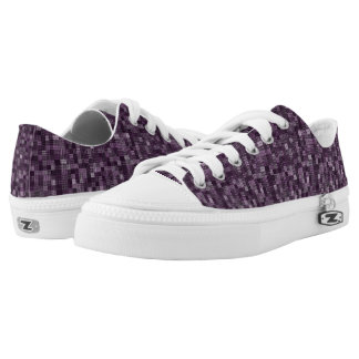 Shades Of Dark Plum Low Tops