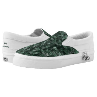 Shades Of Deep Bluish Green Printed Shoes