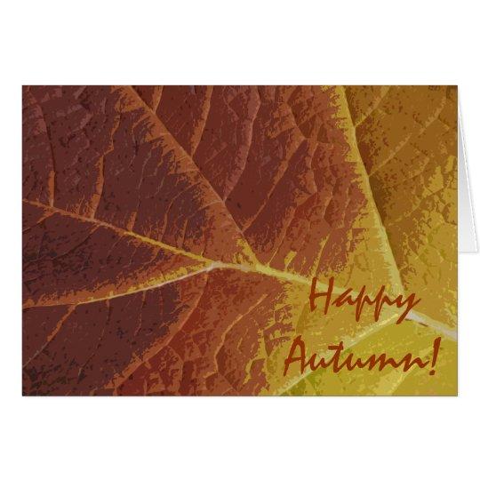 Shades of Fall Happy Autumn Card