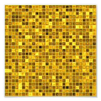 Shades Of Goldenrod Watery Mosaic Tiles Pattern Art Photo