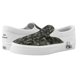 Shades Of Gray Green Printed Shoes