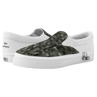 Shades Of Gray Green Slip-On Shoes
