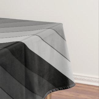 Shades of Gray Stripes Pattern Elegant Tablecloth