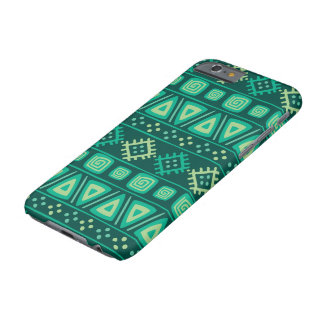 Shades of Green Geo Shapes Barely There iPhone 6 Case