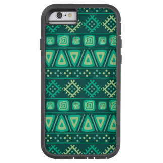 Shades of Green Geo Shapes Tough Xtreme iPhone 6 Case