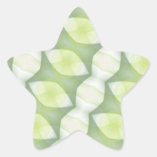 Shades of Green Geometric Diagonal Star Sticker
