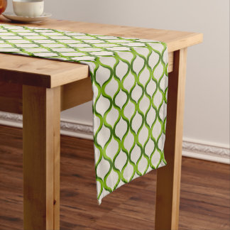 Shades of Green Pattern Table Runner