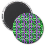Shades of Green Sparkle Energy Refrigerator Magnets
