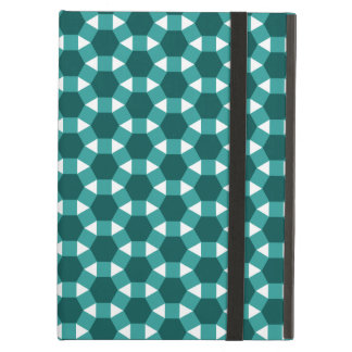 Shades of Green Tiled Tessellation Pattern iPad Air Case