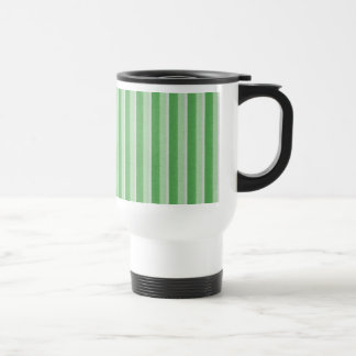 Shades of Green Vertical Stripes Travel Mug