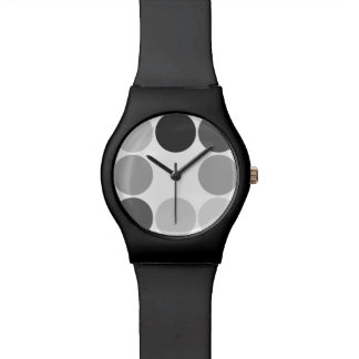 Shades of Grey Circles Watch