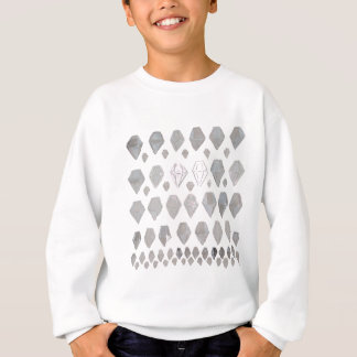 Shades of Grey Diamonds Abstract Art Design Sweatshirt