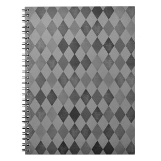 Shades Of Grey Diamonds Spiral Note Book