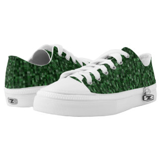 Shades Of Hunter Green Low Tops