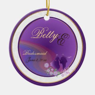 Shades of Lavender Bridesmaid Keepsake Ornament