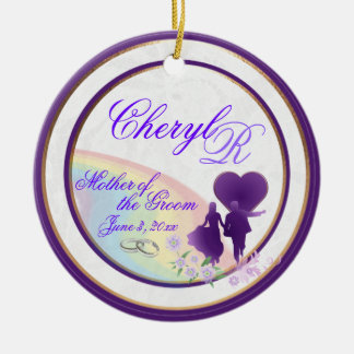 Shades of Lavender Mother of the Groom Keepsake Christmas Ornament
