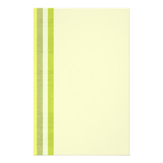 Shades of Lemon Yellow & White Linen Look Stripes Stationery