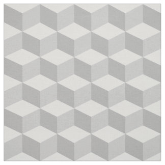 Shades of Light Gray 3D Look Cubes Pattern 20P