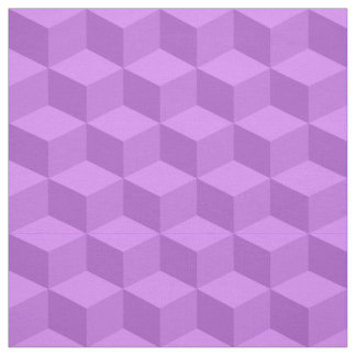 Shades of Lilac Purple 3D Look Cubes Pattern 20P Fabric