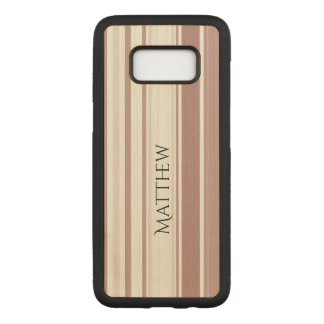 Shades of Marsala Striped Pattern Carved Samsung Galaxy S8 Case
