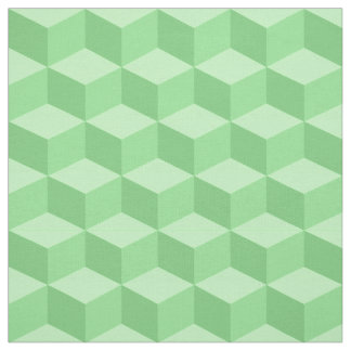 Shades of Mint Green 3D Look Cubes Pattern 20P Fabric
