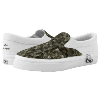 Shades Of Moss Green Printed Shoes
