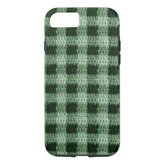 Shades of Natural Green Plaid Crochet Print Tough iPhone 8/7 Case