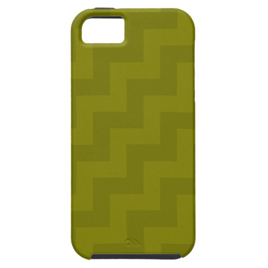 Shades of Olive Diagonal Zigzags (Chevron Stripes) Case For The iPhone 5