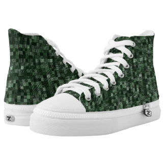 Shades Of Pine Green Printed Shoes