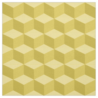 Shades of Pineapple 3D Look Cubes Pattern 20P Fabric