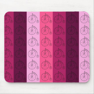 Shades of Pink Bicycles Mouse Mat