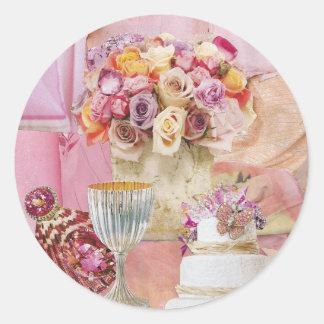 Shades of Pink Classic Round Sticker
