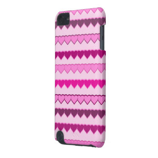 Shades of Pink Heart Rows iPod Touch 5G Cases