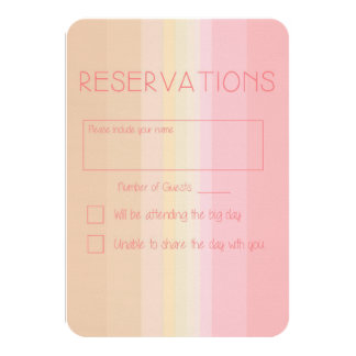 Shades of Pink Ombre Wedding Reply Card 9 Cm X 13 Cm Invitation Card