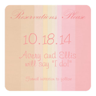 Shades of Pink Ombre Wedding Save the Date Custom Announcement