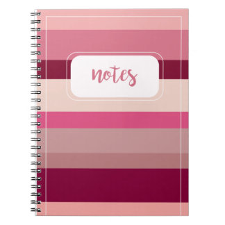 Shades of Pink Striped Notebook