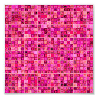 Shades Of Pink Watery Mosaic Tile Pattern Photo Art