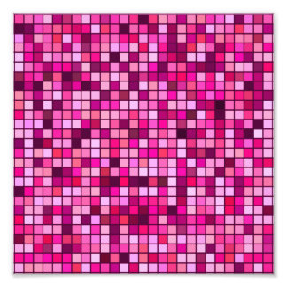 Shades Of Pink With Black Squares Pattern Photo
