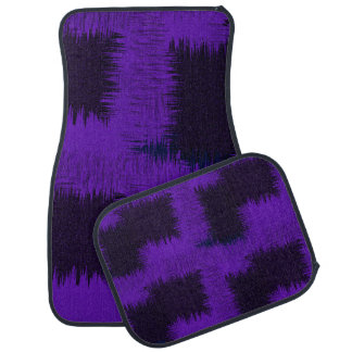 Shades of Purple Abstract Modern Pattern Car Mat