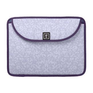 Shades of Purple Floral Vines Rickshaw Flap Sleeve Sleeve For MacBooks