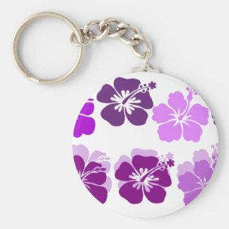 Shades of Purple hibiscus Key Ring