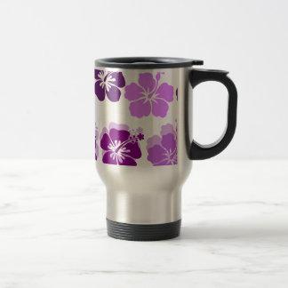 Shades of Purple hibiscus Travel Mug