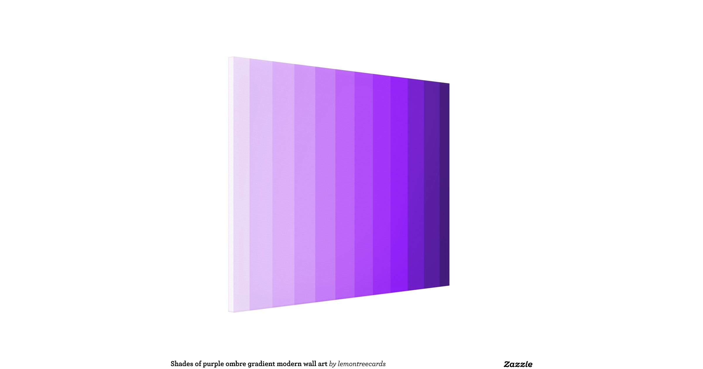 Shades of purple ombre gradient modern wall art stretched - Purple ombre wall ...