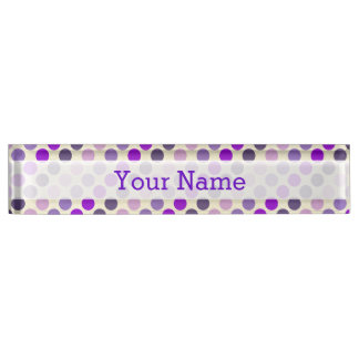 Shades Of Purple Polka Dots by Shirley Taylor Nameplate