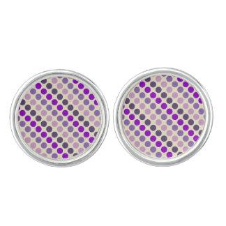 Shades Of Purple Polka Dots Cufflinks